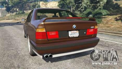 GTA 5 BMW M5 (E34) 1991 v2.0 hinten links Seitenansicht