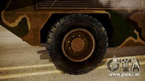 KM900 (Fiat Type 6614) pour GTA San Andreas sur la vue arrière gauche