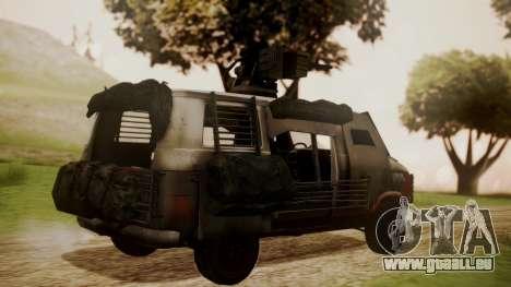 BF3 Rhino für GTA San Andreas linke Ansicht
