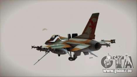 F-16C Block 25 Israeli Air Force pour GTA San Andreas laissé vue
