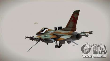 F-16C Block 25 Israeli Air Force für GTA San Andreas linke Ansicht