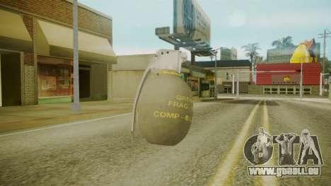 GTA 5 Grenade pour GTA San Andreas troisième écran