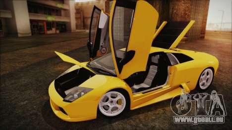 Lamborghini Murcielago 2005 Yuno Gasai IVF für GTA San Andreas Rückansicht