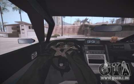 Elegy DRIFT KING GT-1 (Stok wheels) pour GTA San Andreas vue de dessous