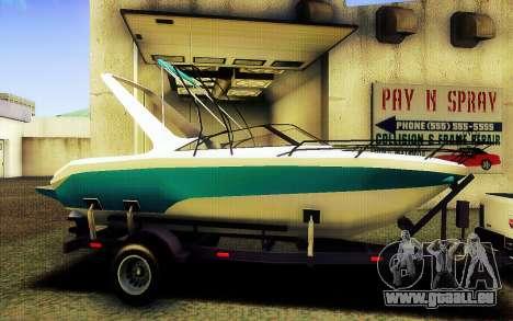 GTA V Boat Trailer für GTA San Andreas linke Ansicht