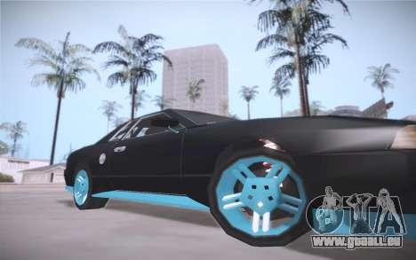 Elegy DRIFT KING GT-1 (Stok wheels) pour GTA San Andreas laissé vue