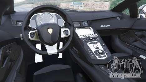 GTA 5 Lamborghini Aventador LP700-4 Police v5.5 hinten rechts