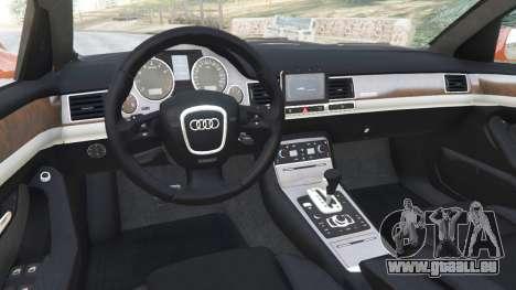 GTA 5 Audi A8 v1.1 rechte Seitenansicht