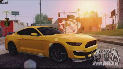 Ford Mustang Shelby GT350R 2016 No Stripe für GTA San Andreas linke Ansicht