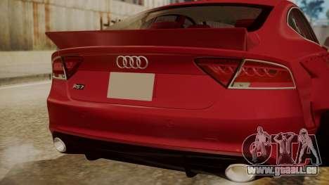 Audi RS7 X-UK L3D pour GTA San Andreas vue arrière