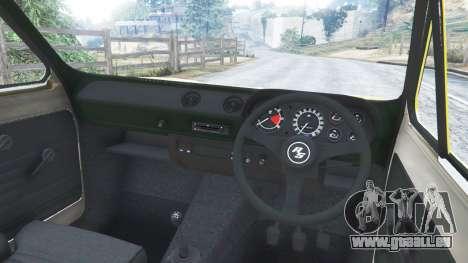 GTA 5 Ford Escort MK1 v1.1 [26] rechte Seitenansicht