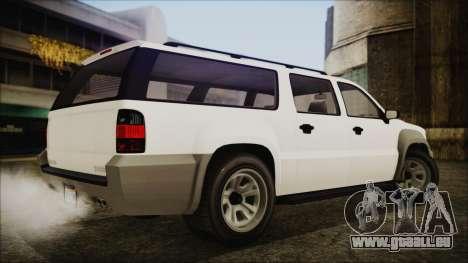 GTA 5 Declasse Granger Civilian IVF für GTA San Andreas linke Ansicht