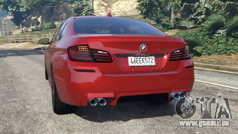 GTA 5 BMW 535i 2012 arrière vue latérale gauche