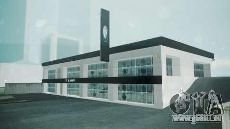 BMW Showroom pour GTA San Andreas deuxième écran