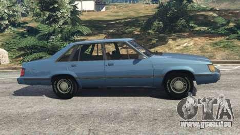 GTA 5 Ford LTD LX 1985 vue latérale gauche