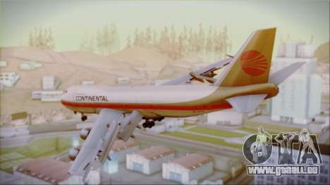 Boeing 747-200 Continental Airlines Red Meatball pour GTA San Andreas laissé vue