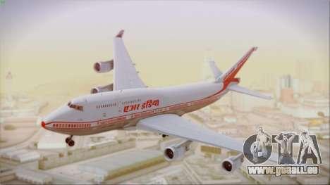 Boeing 747-437 Air India Tanjore New Skin pour GTA San Andreas sur la vue arrière gauche