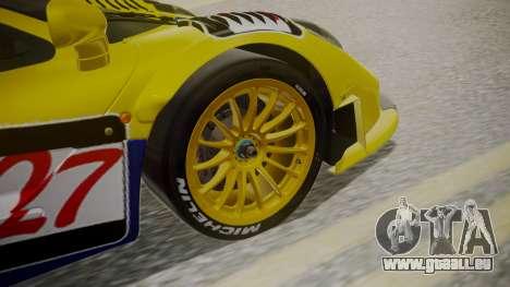 McLaren F1 GTR 1998 Parabolica pour GTA San Andreas sur la vue arrière gauche