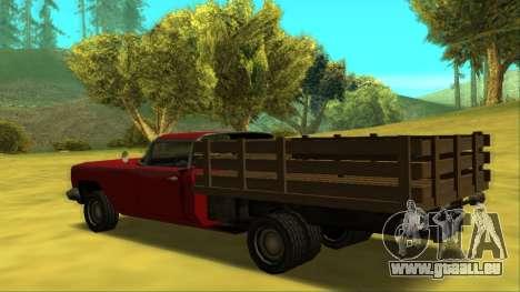 Voodoo El Camino v2 (Truck) für GTA San Andreas zurück linke Ansicht