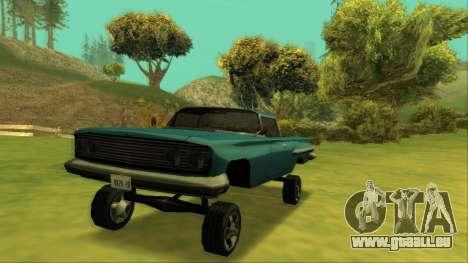 Voodoo El Camino v1 für GTA San Andreas Innen