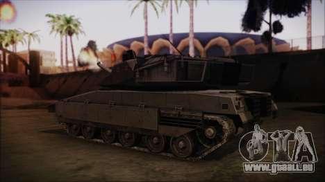 M2A1 Slammer Tank pour GTA San Andreas laissé vue