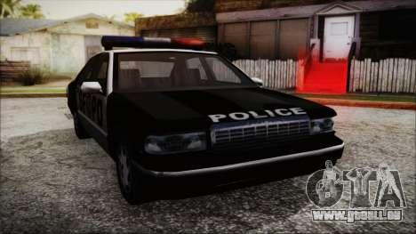 Beta SFPD Cruiser für GTA San Andreas zurück linke Ansicht