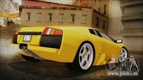 Lamborghini Murcielago 2005 Yuno Gasai IVF pour GTA San Andreas laissé vue