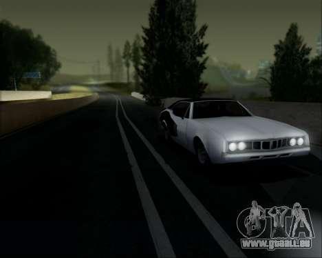 Clover Barracuda für GTA San Andreas Rückansicht