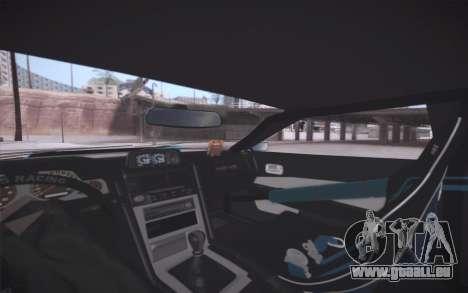 Elegy DRIFT KING GT-1 (Stok wheels) pour GTA San Andreas vue de dessus