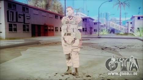 MGSV Phantom Pain Snake Normal Golden Tiger für GTA San Andreas zweiten Screenshot