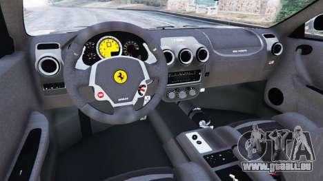 GTA 5 Ferrari F430 2004 arrière droit vue de côté