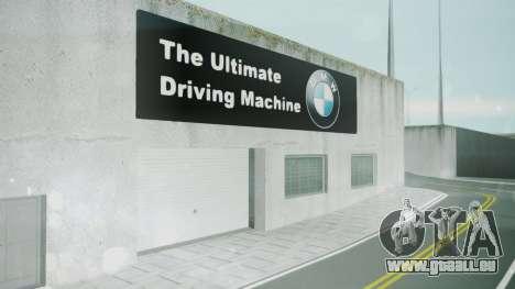 BMW Showroom pour GTA San Andreas troisième écran