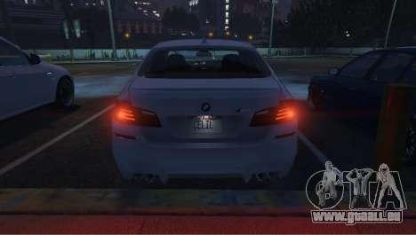 GTA 5 BMW M5 F10 2012 droite vue latérale