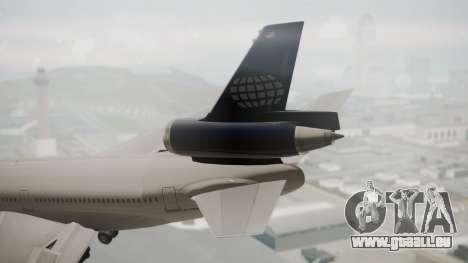 DC-10-30 World Airways (Blue Tail) für GTA San Andreas zurück linke Ansicht