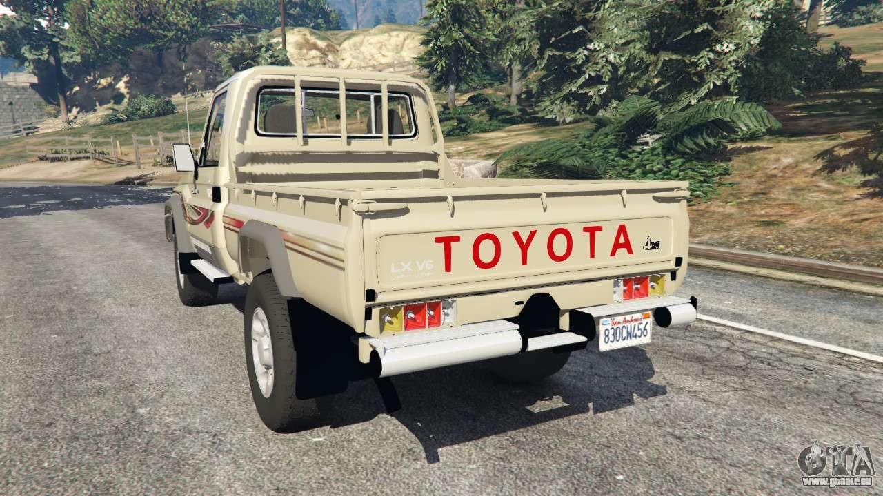 toyota land cruiser lx pickup 2016 pour gta 5. Black Bedroom Furniture Sets. Home Design Ideas