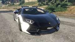 Lamborghini Aventador LP700-4 Police v5.5