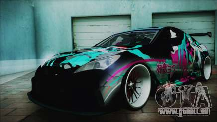Hyundai Genesis Coupe Hatsune Miku Itasha PJ pour GTA San Andreas