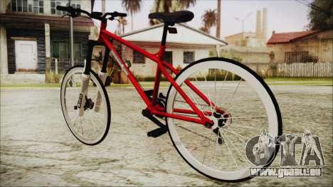 Scorcher Racer Bike pour GTA San Andreas laissé vue