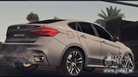 BMW X6M 50D für GTA San Andreas zurück linke Ansicht