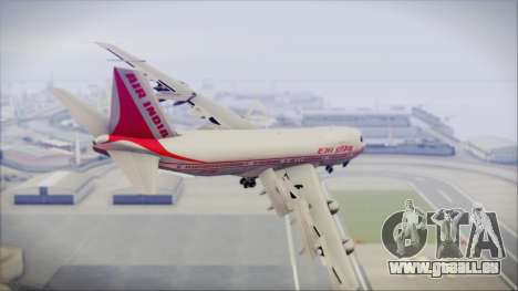 Boeing 747-237Bs Air India Emperor Ashoka für GTA San Andreas linke Ansicht