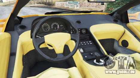 GTA 5 Lamborghini Diablo Viscous Traction 1994 arrière droit vue de côté