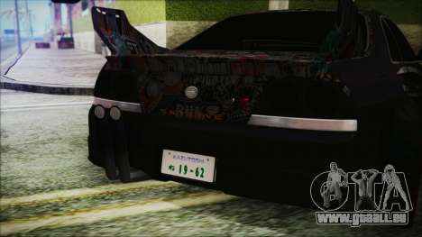 Nissan Skyline R33 Widebody v2.0 pour GTA San Andreas vue intérieure