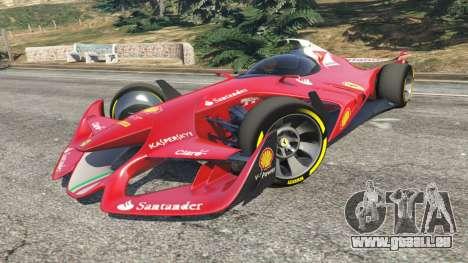 GTA 5 Ferrari F1 Concept droite vue latérale