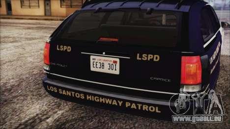 Chevrolet Caprice Station Wagon 1993-1996 LSPD für GTA San Andreas Rückansicht