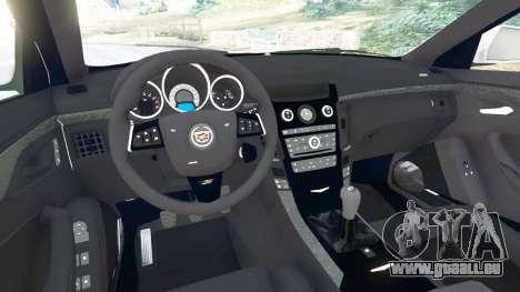 GTA 5 Cadillac CTS-V 2009 arrière droit vue de côté