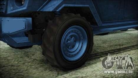 GTA 5 HVY Insurgent Van IVF pour GTA San Andreas sur la vue arrière gauche