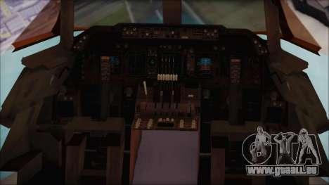 Boeing 747-100 Blue pour GTA San Andreas vue arrière