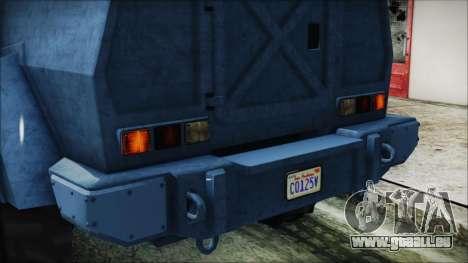 GTA 5 HVY Insurgent Van IVF pour GTA San Andreas vue de côté