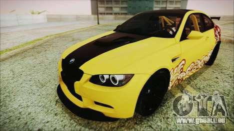BMW M3 GTS 2011 HQLM für GTA San Andreas Seitenansicht