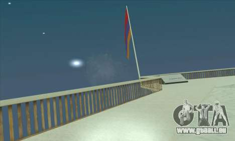 L'arménie drapeau sur le mont Chiliade pour GTA San Andreas
